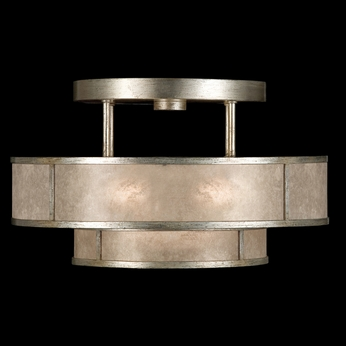 Fine Art Lamps 600940 2 Singapore Moderne Silver Semi Flush Ceiling Light Fixture