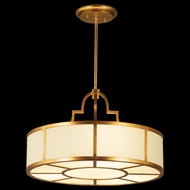 Fine Art Lamps 601740 Portobello Road Gold Drum Drop Ceiling Lighting