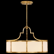 Fine Art Lamps 601840 Portobello Road Gold Drum Ceiling Light Pendant