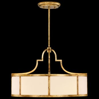 Fine Art Handcrafted Lighting 601840 Portobello Road Gold Drum Ceiling Light Pendant