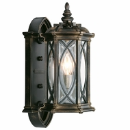 Fine Art Handcrafted Lighting 612681 Warwickshire Traditional Black Exterior Lighting Wall Sconce
