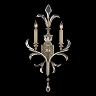 Fine Art Handcrafted Lighting 704850 Beveled Arcs Silver Wall Light Sconce