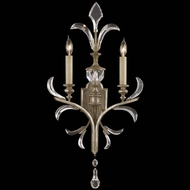 Fine Art Lamps 704850 Beveled Arcs Tall 2-lamp Crystal Lighting Wall Sconce