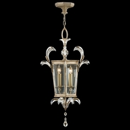 Fine Art Lamps 705440 Beveled Arcs Silver Fluorescent Entryway Light Fixture