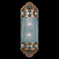 Fine Art Lamps 711150-2 Scheherazade Traditional Wall Sconce with Choice of Four Glass Colors