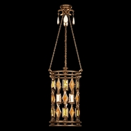 Fine Art Handcrafted Lighting 711640-1 Encased Gems Bronze Fluorescent Drop Lighting
