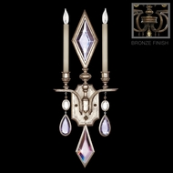 Fine Art Lamps 718150-1 Encased Gems Bronze 2-lamp Traditional Crystal Candle Sconce with Multi-Color Gems