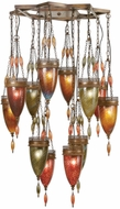 Fine Art Handcrafted Lighting 718540-6 Scheherazade Bronze Fluorescent Multi Pendant Lamp