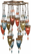 Fine Art Handcrafted Lighting 718540-7 Scheherazade Bronze Fluorescent Multi Hanging Lamp