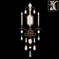 Fine Art Lamps 726950-3 Encased Gems Large Silver 3-light Candle Wall Sconce with Clear Crystal