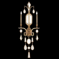 Fine Art Lamps 727050-3 Encased Gems Gold Fluorescent Wall Mounted Lamp