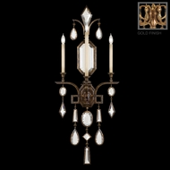 Fine Art Lamps 727050-3 Encased Gems Large Gold Metal Sconce with Clear Crystal