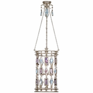 Fine Art Lamps 727440-1 Encased Gems Silver Fluorescent Foyer Light Fixture