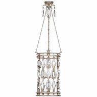 Fine Art Lamps 727440-3 Encased Gems Silver Fluorescent Foyer Lighting Fixture