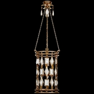 Fine Art Lamps 727640-3 Encased Gems Gold Fluorescent Foyer Lighting