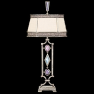 Fine Art Lamps 729810-3 Encased Gems Silver Table Lamp with Clear Crystals