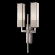 Fine Art Lamps 733050-2GU Perspectives Silver 2-light Contemporary Sconce