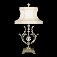 Fine Art Handcrafted Lighting 737510 Beveled Arcs Silver Fluorescent Side Table Lamp