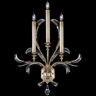 Fine Art Lamps 738550 Beveled Arcs 3-light Crystal Wall Sconce Fixture