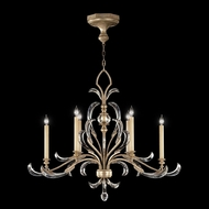 Fine Art Lamps 739240 Beveled Arcs Silver Fluorescent Chandelier Lighting