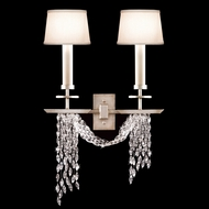 Fine Art Lamps 750450 Cascades 2-lamp Crystal Wall Light Fixture with Shades