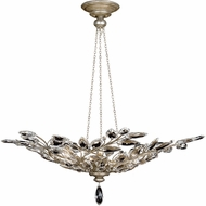 Fine Art Handcrafted Lighting 753740 Crystal Laurel Antique Taupe Fluorescent Hanging Light Fixture