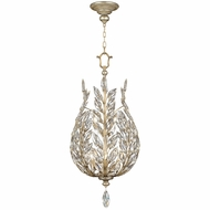 Fine Art Handcrafted Lighting 753840 Crystal Laurel Modern Antique Taupe Fluorescent Drop Lighting