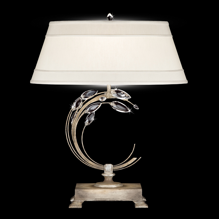Fine Art Lamps 758610 Crystal Laurel Right Side Facing Silver Table Light.  Loading Zoom