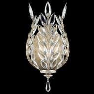 Fine Art Lamps 759550 Crystal Laurel Small Silver Coupe Wall Lamp