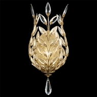 Fine Art Lamps 773950 Crystal Laurel Gold Large 1-light Crystal Coupe Wall Sconce