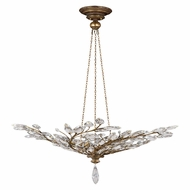 Fine Art Handcrafted Lighting 776440 Crystal Laurel Gold Gold Fluorescent Drop Lighting Fixture