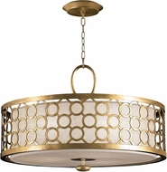 Fine Art Lamps 780140-2 Allegretto Gold Fluorescent Drum Lighting Pendant