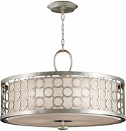 Fine Art Lamps 780140 Allegretto Silver Fluorescent Drum Pendant Light