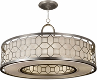 Fine Art Lamps 780340GU Allegretto Silver Fluorescent Drum Pendant Light Fixture