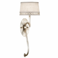 Fine Art Handcrafted Lighting 784650 Allegretto Silver Fluorescent Wall Lighting Sconce