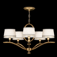 Fine Art Lamps 785440-2 Allegretto Gold Small 5-light Contemporary Chandelier with Shades