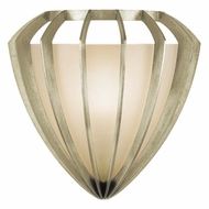 Fine Art Handcrafted Lighting 786450 Staccato Silver Fluorescent Wall Sconce Light