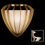 Fine Art Lamps 786450 Staccato Silver Small 1-light Modern Pocket Sconce