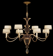 Fine Art Lamps 786640-2 Staccato Gold Large Contemporary Chandelier with Shades