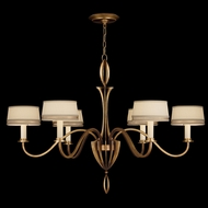 Fine Art Lamps 786740-2 Staccato Gold 6-lamp Modern Chandelier with Shades