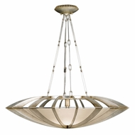 Fine Art Handcrafted Lighting 787040 Staccato Silver Fluorescent Hanging Lamp
