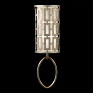Fine Art Lamps 787450 Allegretto Silver Rectangular Lattice Wall Mounted Lamp