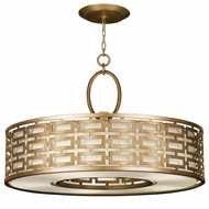 Fine Art Lamps 787640-2GU Allegretto Modern Gold Fluorescent Drum Hanging Pendant Light