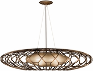 Fine Art Handcrafted Lighting 789040 Allegretto Bronze Fluorescent Pendant Hanging Light