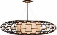 Fine Art Handcrafted Lighting 789240 Allegretto Bronze Fluorescent Hanging Light Fixture