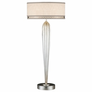 Fine Art Handcrafted Lighting 792915 Allegretto Silver Side Table Lamp