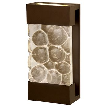Fine Art Handcrafted Lighting 810850-14 Crystal Bakehouse Contemporary Bronze LED Wall Light Fixture