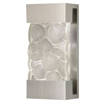 Fine Art Handcrafted Lighting 810850-24 Crystal Bakehouse Contemporary Silver LED Wall Lighting Sconce