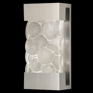 Fine Art Lamps 810850-24 Crystal Bakehouse Small Silver Finish Crystal River Stone Lamp Sconce - 14 Inches Tall