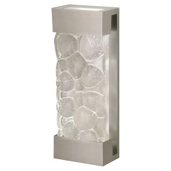 Fine Art Handcrafted Lighting 810950-24 Crystal Bakehouse Modern Silver LED Wall Lighting Fixture